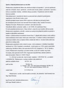 Zpráva o činnosti představenstva  za účetní období 2016 001